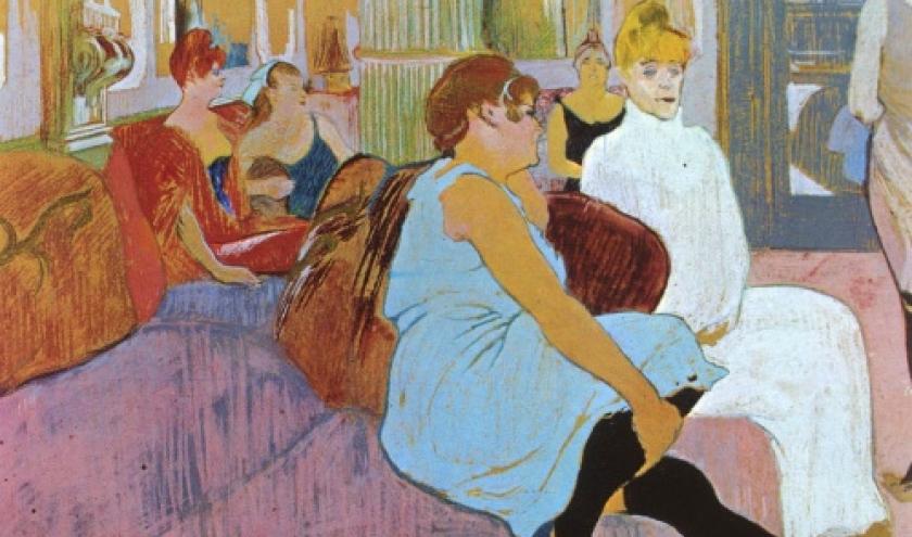 Salon de la rue des Moulins (pastel)