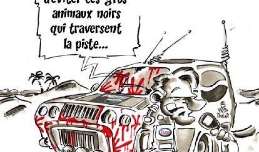 Dakar caricatures