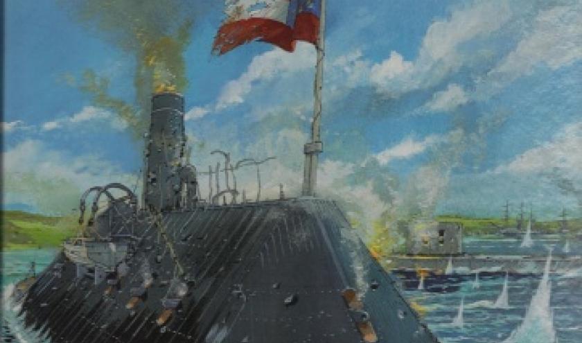 Hampton Roads.  Dans la collection Les Grandes batailles navales