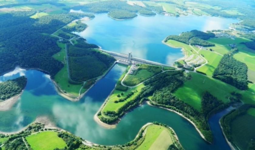 luchtfoto van de meren