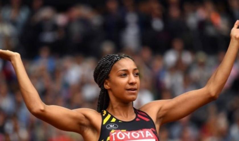 """06 Aout 2017 - Nafissatou Thiam, Championne du Monde de l'Heptathlon (c) """"AFP"""""""