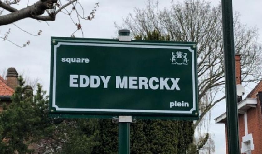 """A 58 jours du """"Grand Départ"""", retour sur l'inauguration du """"Square Eddy Mecrckx"""", à Woluwe St. Pierre, le 28 mars 2019"""