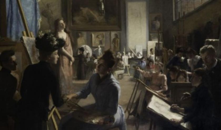 """L'Atelier du Peintre Blanc-Garin"", Dagmar De Furuhjelm, 160 x 225 cm, 1890"