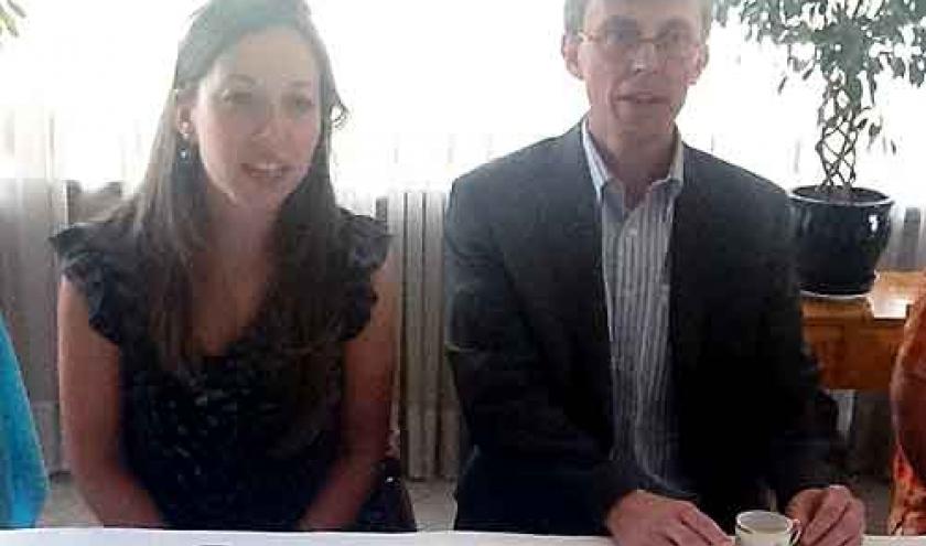 Caroline et Geert-Cockx consul en Israel
