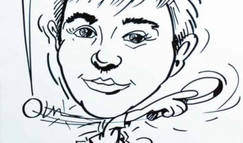 Caricature tennis de table
