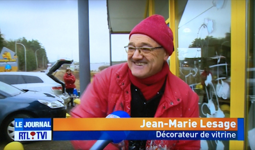 Jean-Marie Lesage au JT sur RTL-TVI