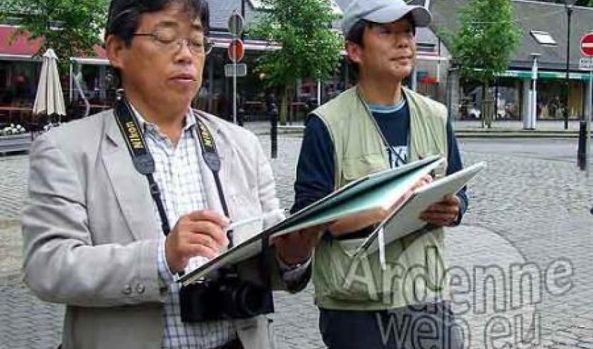 Des artistes japonais visitent Durbuy