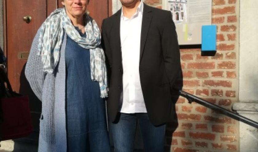 1, Spa Commerce. Le nouveau, President Jonathan Quoilin et Catherine Geyr, presidente sortante