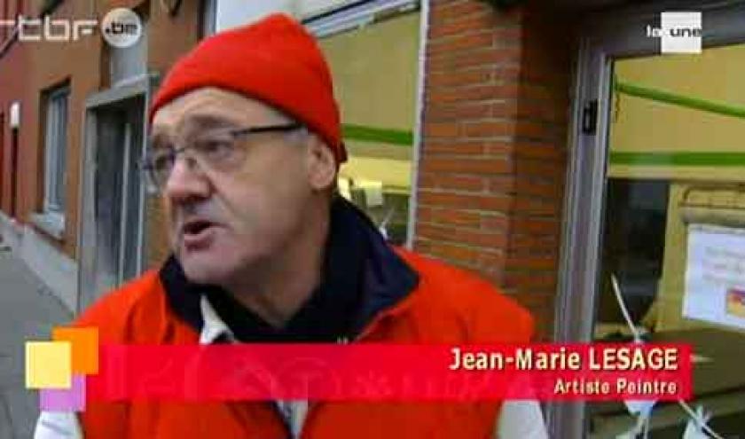 TV5 Monde peinture sur vitrine pour NOEL