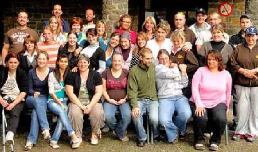 40 travailleurs Castors dans les Hautes Fagnes