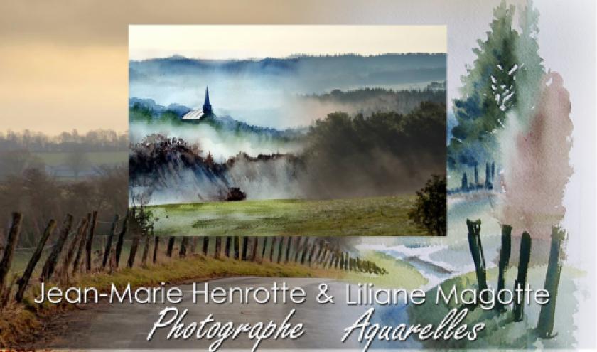 Liliane Magotte et Jean-Marie Henrotte: l'Ardenne, entre aquarelle et photo