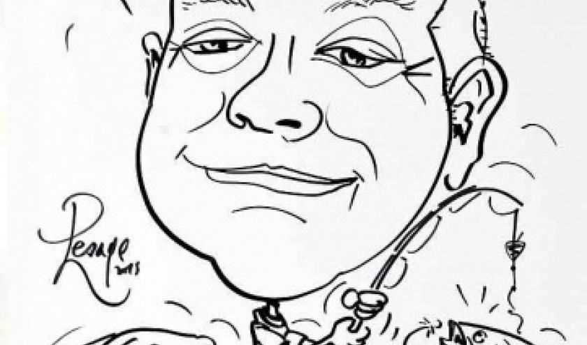 Animation caricature pecheur