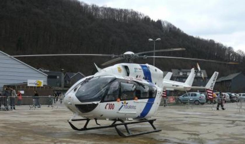 L'helicoptere du Centre de secours de Bra