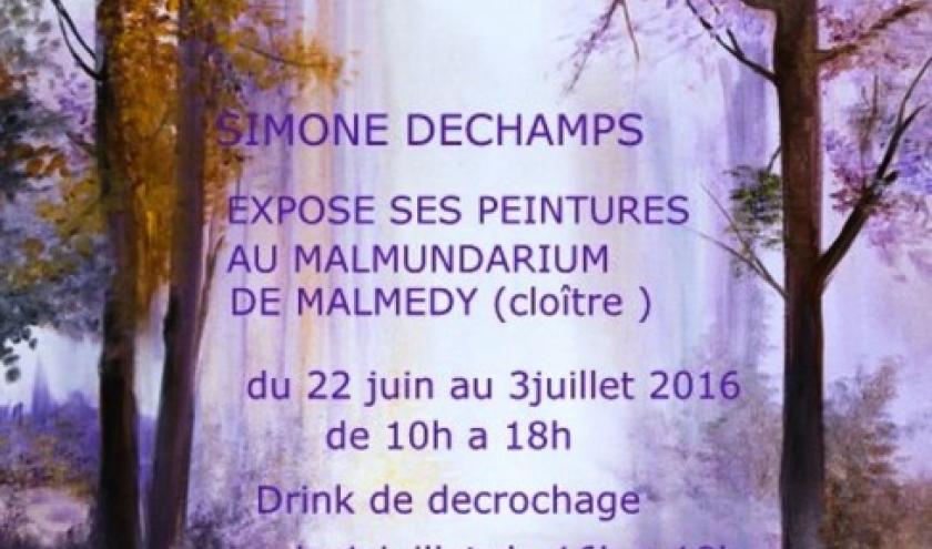 Courte exposition des œuvres de Simone Dechamps au Malmundarium