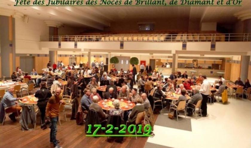 L'ensemble des jubilaires 2019 ( Photo Denis DOSQUET )
