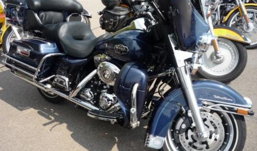 Une des nombreuses motos exposees