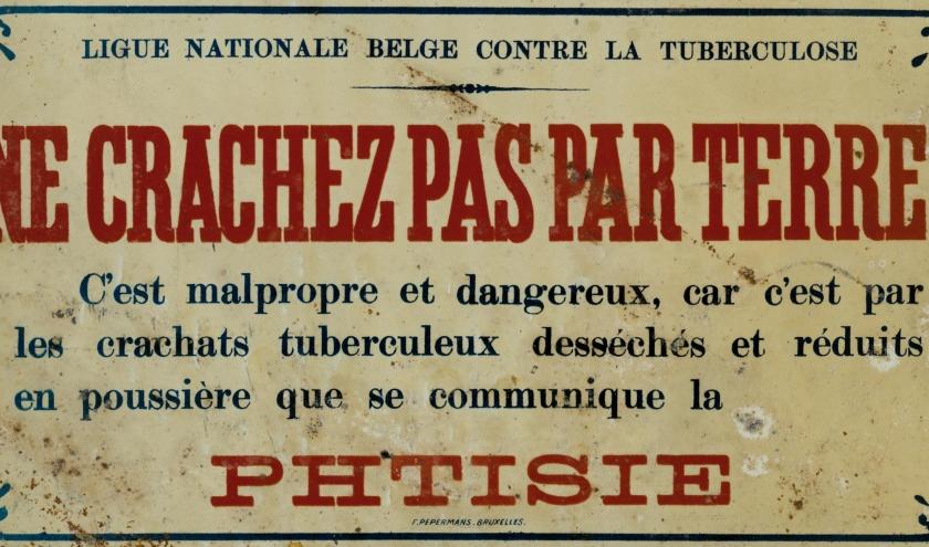 Panneau de propagande anti tuberculose