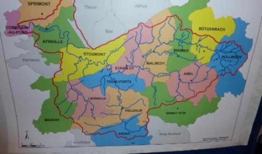 carte du bassin hydrographique Ambleve