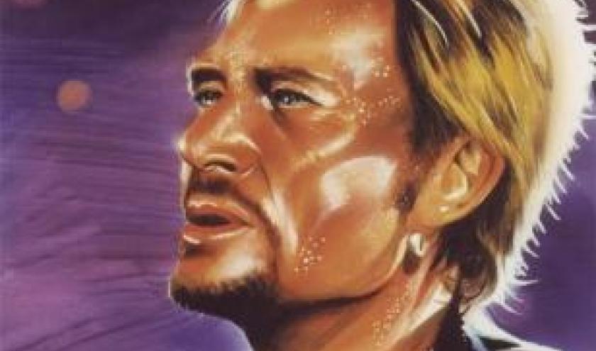 20110624_johnny Hallyday portrait peinture