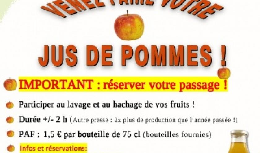 Venez faire votre jus de pommes