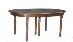 table ovale en chene massif