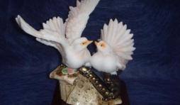 colombes et saxo 9.28 euros h 16 l 15 cm