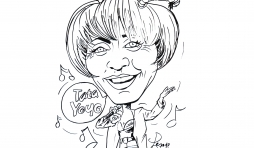 Annie Cordy et son tube Tata Yoyo. Caricature Jean-Marie Lesage
