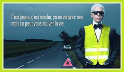 Karl Lagerfeld supporte les Gilets jaunes.