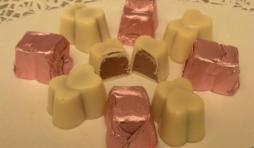 pralines coeur chocolat blanc fourre praline