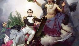 Napoléon Ier couronné par le Temps, écrit le Code Civil, Jean-Baptiste Mauzaisse, 1833.  ( GETTY IMAGES )