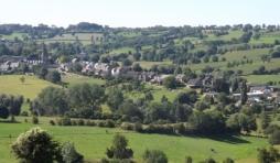 Le village de Charneux vu depuis la croix